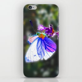 Butterfly on the Lavender iPhone Skin