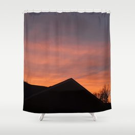 Red Glow Sunset Shower Curtain