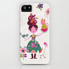 Folk Girl iPhone Case