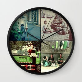 One day in Beijing Wall Clock