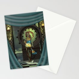 Mystical world, beautiful fairy Stationery Cards