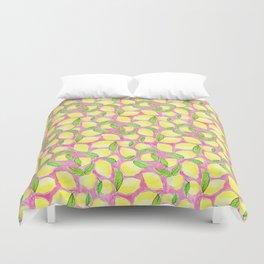 Pink Lemonade Pattern Duvet Cover