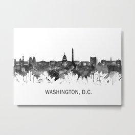 Washington D.C. USA Skyline BW Metal Print