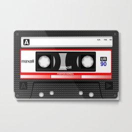 Retro audio cassete Metal Print