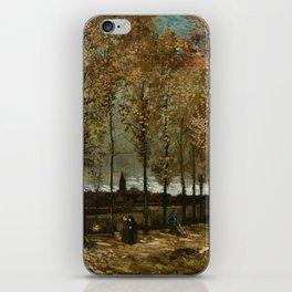 Vincent Van Gogh Poplars Near Nuenen iPhone Skin