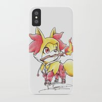games iPhone & iPod Cases featuring Flame Games by Randy C