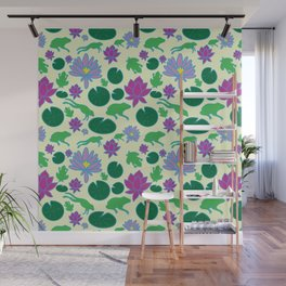 Jumping Frogs of Lily Pad Valley Wall Mural