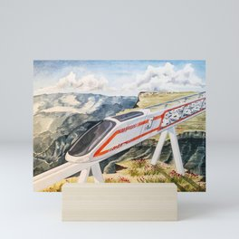 Cairo To Cape Town Train Mini Art Print