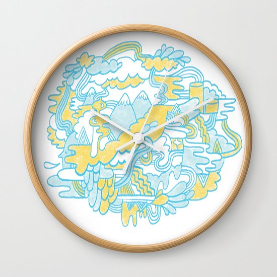 Spaghetti Mountain Wall Clock
