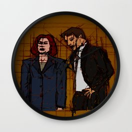 there's something out there, mulder Wall Clock