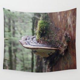 Magical Fungi World   Nature Photography Wall Tapestry