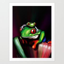 Red Eyed Tree Frogs Art Print