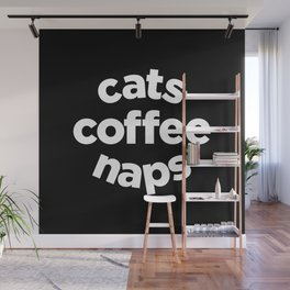 Cats Coffee Naps Wall Mural