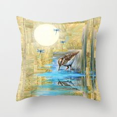 Nature Reflected Series: Speckled Plover Throw Pillow