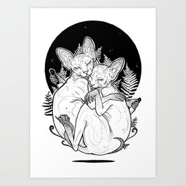 (un)loved sphynxes Art Print