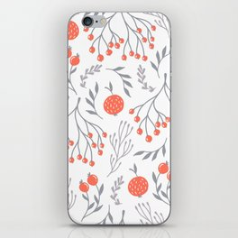 Red Berry Floral iPhone Skin