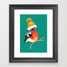 Christmas Bird Bullfinch Framed Art Print