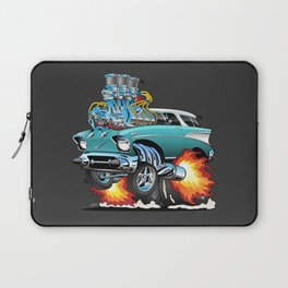Classic Fifties Hot Rod Muscle Car Cartoon Laptop Sleeve