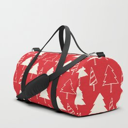 Christmas Tree Red Duffle Bag
