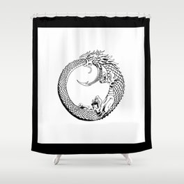The Wyrm has Turned Shower Curtain