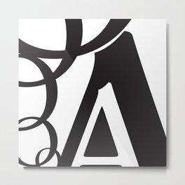 Abstract Text 5 Metal Print