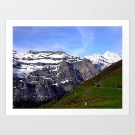 Switzerland: Mountains and Trains Art Print