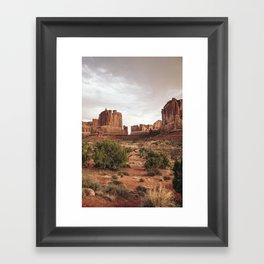 Desert Red Utah Rocks Framed Art Print