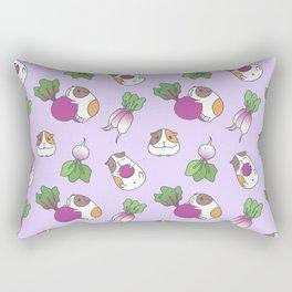 Guinea Pig and Radish Pattern Rectangular Pillow