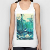 ship Tank Tops featuring Ship by Hilary Dow