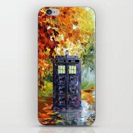 Starry Autumn Blue Phone Box iPhone Skin