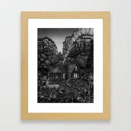 The Shire, USA (B&W Version) Framed Art Print