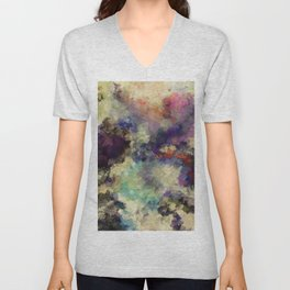 Contemporary Abstract Painting in Purple / Violet Color Unisex V-Neck