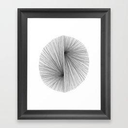 Mid Century Modern Geometric Abstract Radiating Lines Framed Art Print