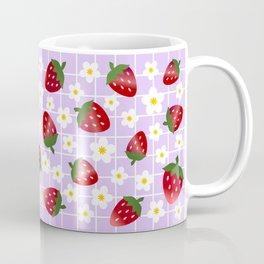 Sweet Strawberries - lilac Coffee Mug