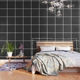 Black Polka Dots Palm Beach Preppy Wallpaper
