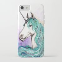unicorn iPhone & iPod Cases featuring Unicorn by Pendientera