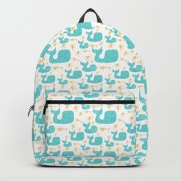 Whales and Stars | Baby Nursery | Kids Wall Art | Backpack