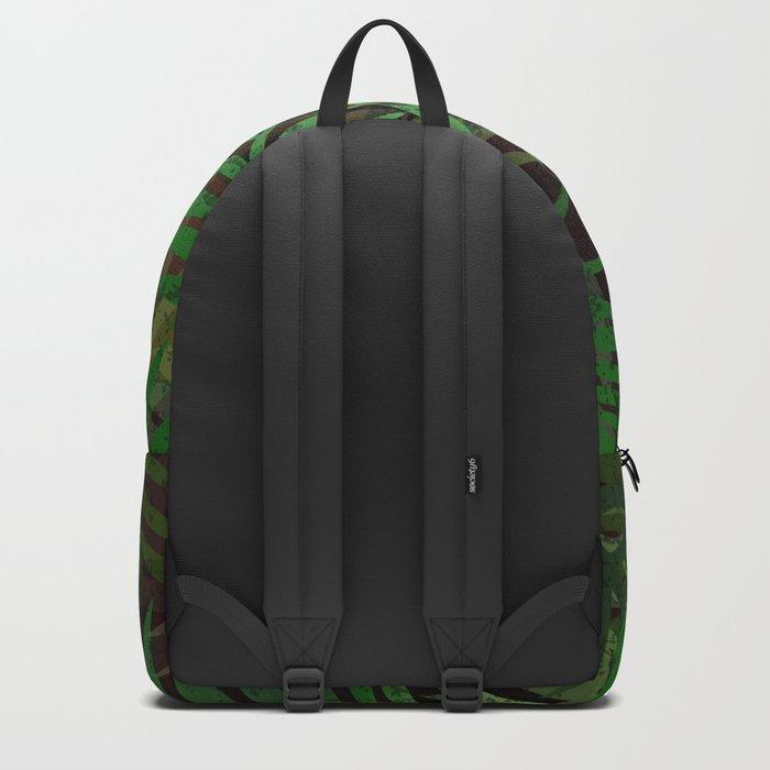 TROPICAL GREEN LEAVES BROWN B. Backpack