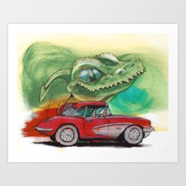 Raptors love vettes Art Print
