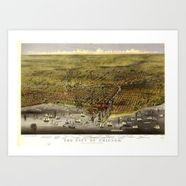 The City of Chicago, Illinois by Currier & Ives (1874) Art Print