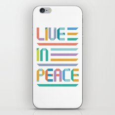 Live In Peace iPhone & iPod Skin