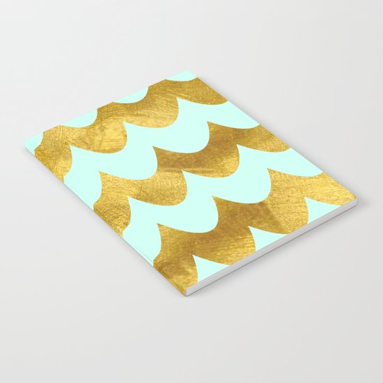Mint Gold Foil 04 Notebook