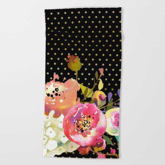 Flowers bouquet #32 Beach Towel