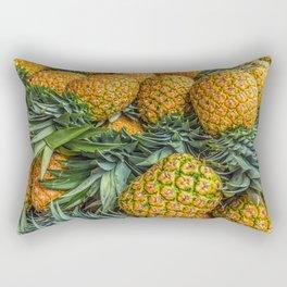 Pineapples at Market Rectangular Pillow