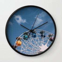 Colourful Ferry Wheel Wall Clock