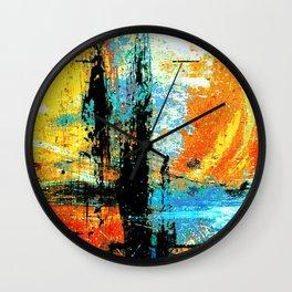 Easel Abstract 12 Wall Clock