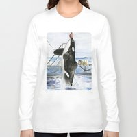 marine Long Sleeve T-shirts featuring Marine Star by Jeff Moser Watercolorist