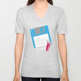 USB, I am Your Father | Retro Floppy Disk Unisex V-Neck