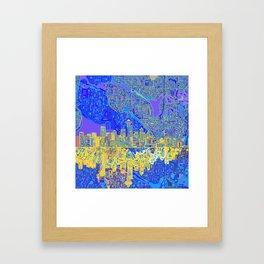 seattle city skyline Framed Art Print