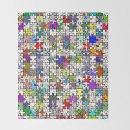 Jigsaw junkie Throw Blanket
